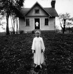 Girl in white dress, Cape May, 1971 - by Arthur Tress (1940), USA