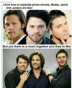 Haha, Jared Padalecki, Misha Collins and Jensen Ackles xD