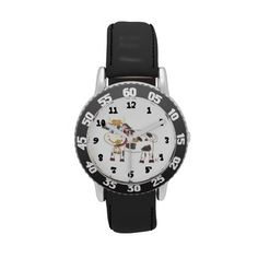 Swiss #cow watch for kids who are beginning to read the time . #watch for #beginners  #iCraftCafé #kidsfashion