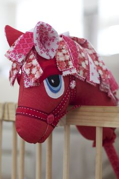 """""""Cherry Blossom"""" the Hobby Horse by Pink Grapefruit Use for eye detail and alternative mane Hobbies For Women, Hobbies To Try, Sewing Toys, Sewing Crafts, Sewing Projects, Felt Crafts, Fabric Crafts, Unicorn Diy, Hobby Lobby Christmas"""