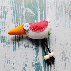 Pocket Bird Badge | Ginger Pickle | Handmade Jewellery, Accessories, Homewares and Stationery made by UK designers.