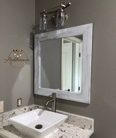 Cabinets can base on your flooring or can be wall mounted relying on the space and bathroom lay out. Typically cabinets come above the sink, typically with a mirror on the door. Wood Mirror Bathroom, Small Bathroom Vanities, Wood Framed Mirror, Rustic Mirrors, Small Mirrors, Mirror Vanity, Bathroom Ideas, Bath Mirrors, Mirror Room