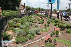 miniature village epcot germany - Google Search Disney Garden, Epcot, Backyard, Train, Google Search, Plants, Scale, Miniature, Germany