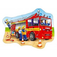 Big Fire Engine Floor Puzzle - Orchard Toys Floor Puzzles - Puzzles & Games - Catalogue