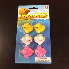 Little ducky erasers! Crazy cute!