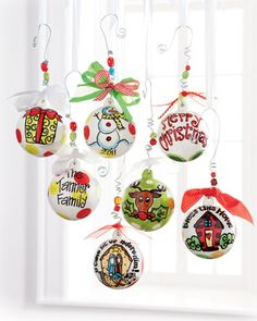 Personalized Ornaments by Glory Haus at Neiman Marcus.
