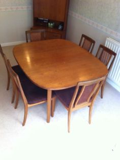 Danish tiled teak dining table by gangso mobler 1970s for G plan heritage dining room furniture