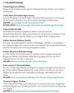 11 #hållbarhetsivrare http://www.va.se/nyheter/2016/02/02/hela-listan-sveriges-101-supertalanger-2016/
