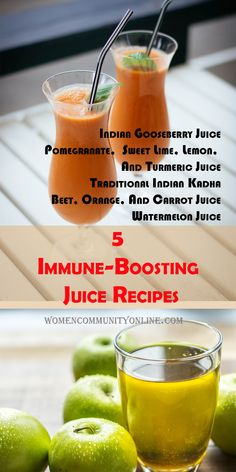5 Immune-Boosting Juice Recipes Indian Gooseberry Juice Pomegranate,  Sweet Lime, Lemon, And Turmeric Juice Traditional Indian Kadha Beet, Orange, And Carrot Juice Watermelon Juice #immunity #health #healthylifestyle #wellness #healthy #immunityboost #immunesystem #nutrition #fitness #immunesupport #immunitybooster #immunebooster #organic #natural #healthyliving #vitamins #vitaminc #selfcare #energy #immunehealth #plantbased #immune #antioxidants #boostimmunity #immuneboost #herbs Turmeric Juice, Sweet Lime, Online Blog, Juice Recipes, Beets, Immune System, Pomegranate, Home Remedies, Healthy Lifestyle
