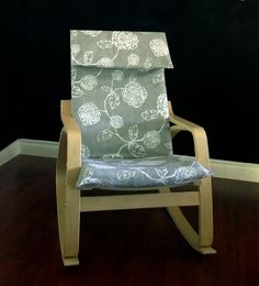 IKEA POÄNG Cushion Slipcover, Magnolia Adele Slate by RockinCushions, $79.00. Love the pretty linen look!