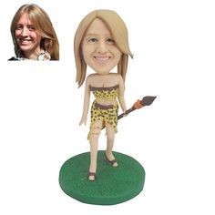 Personalizd Doll   Handmade Customized Bobble head  Figurine   Cave Woman