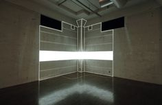 'Extension Series' projects a virtual space onto the actual space. It virtualises what is real and actualises what is virtual. The result is a projected space: a visible space, based on the tangible space.