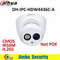 Dahua 4MP camera IR50M H.265 Full HD IP camera Built-in-MIC CCTV Network Camera DH-IPC-HDW4436C-A