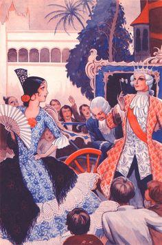 Illustration by Rudolf Koivu Art Nouveau Illustration, Children's Book Illustration, Art Illustrations, Vintage Book Art, Andersen's Fairy Tales, Inspiration Art, Animated Love Images, Illustrators, Concept Art