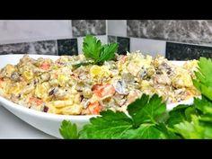 Rețetă de post! Cum să faci salata preferată în post! Salată olivier de post! Olesea Slavinski - YouTube Best Salad Recipes, Vegan Recipes, Cobb Salad, Mad, Youtube, Olivier Salad, Gastronomia, Mushrooms, Traditional
