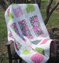 Modern Baby Quilt...The Penelope Quilt by LancasterRoad on Etsy