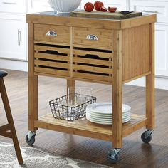 Found it at AllModern - Beartown Kitchen Cart with Stainless Steel Top
