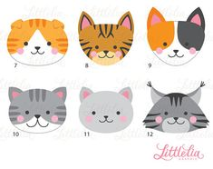 Cat head clipart cat face clipart 16069