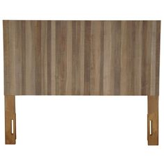 Perfect for Sunday morning sleep-ins and serene nighttime reading, this rustic headboard showcases a planked design and streamlined teak frame.