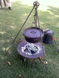"Dutch oven cook off. I like the tripod that holds the Dutch Oven ""up"" off of the coals."