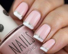 valentine's day mani/pedi designs | Lovely Valentine's Day Nail Designs: V-Day French Mani | Jill