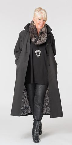 Adajio black long rain mac, £130.00 | Box 2