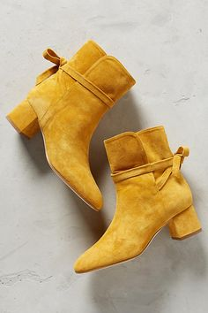 Shop boots for every occasion in The Boot Shop at Anthropologie. Discover unique booties, tall boots, weather boots and more, including the season's newest arrivals. Suede Ankle Boots, Suede Booties, Ankle Booties, Bootie Boots, Shoe Boots, Shoes Heels, Suede Shoes, Crazy Shoes, New Shoes