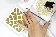 DIY: moroccan tile coasters
