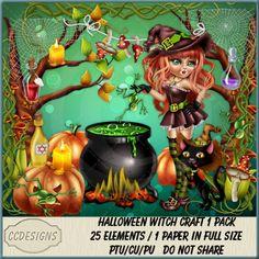 Halloween Witch Craft 1 Pack (FS/CU/S4H) [CCD] : Scrap and Tubes Store, Digital Scrapbooking Supplies Scrapbook Supplies, Witch Craft, Digital Image, Creative Design, Digital Scrapbooking, Craft Projects, Packing, Halloween, Artist