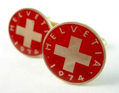 Swiss cuff links.  I like 'em!