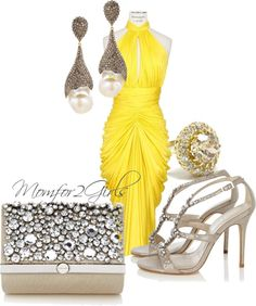 A fashion look from April 2013 featuring open back midi dress, t strap high heel sandals and karen millen purse. Browse and shop related looks. Style Me, Your Style, Women Life, Mellow Yellow, Karen Millen, Girls Be Like, Cocktails, Cute Casual Outfits, Yellow Dress