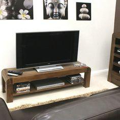 Shiro Solid Walnut Low TV Cabinet -  - TV Unit - Baumhaus - Space & Shape - 1