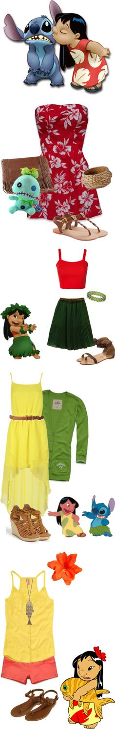 """lilo and stich"" by savannahrosed ❤ liked on Polyvore"