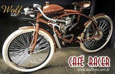 Bicicleta Wolf Hero 4T - Café Racer Vermelha