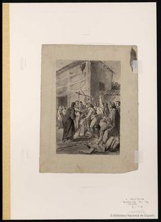 [Pendencia en la venta]. Carnicero, Antonio 1748-1814 — Dibujo — 1777