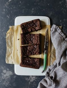 Vegan Gluten Free Brownies for Two, small batch brownies for two.