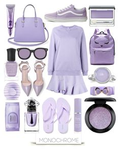 """I Lavender got a Clue"" by numbsunday ❤ liked on Polyvore featuring Urban Decay, Old Navy, Guerlain, Kate Spade, Clinique, Eos, Kate Somerville, Carven, Dries Van Noten and MAC Cosmetics"