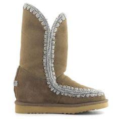MOU Eskimo Wedge Tall Boots Women Dark Stone - MOU  (279€→209€) #CyberMondayDeals #Cyber Monday #Christmas