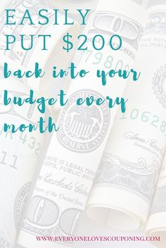 Easily Put 200 Back Into Your Budget Every Month ELC
