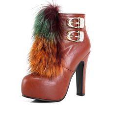 Kvoll - Fur Buckle Boots $109.00 http://www.shop.secretenvy.com/Kvoll-Fur-Buckle-Boots-20151469.htm