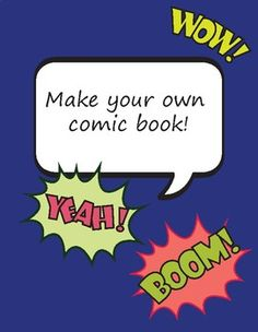 Make your own comic book!This kit includes:- 2 front covers (2 templates + 2 examples)- 2 back covers (2 templates + 2 examples)- thought bubbles (1 sheet)- talk bubbles (2 sheets)- cut outs (5 sheets)- 10 comic book page templates- character profile (2 sheets)- story line- story map- storyboardEnjoy!You will receive a PDF (US letter).