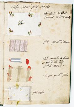 """labelleotero: """" vivelareine: """" A page from Marie Antoinette's wardrobe book from [credit: Archives nationales] """" Just FYI: you can buy a reproduction of La Gazette des atours de Marie. Marie Antoinette, Versailles, Bourbon, Image Mode, French History, 18th Century Fashion, French Revolution, Historical Costume, Historical Clothing"""