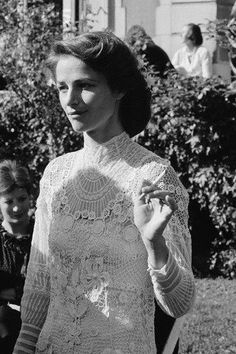 October 1978, Croissy-sur-Seine, France ---  Charlotte Rampling on her wedding day.