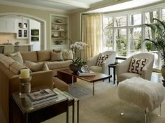 Interior Portfolio - transitional - family room - chicago - Reynolds Architecture- Northfield, Illinois
