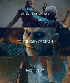 What do we say? Episode 3, Season 8, Game of Thrones. Arte Game Of Thrones, Game Of Thrones Quotes, Game Of Thrones Funny, Game Thrones, Sansa Stark, Bran Stark, The North Remembers, Maisie Williams, Game Of Throne Lustig