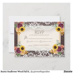 Wedding Rsvp, Rustic Wedding, Response Cards, Card Sizes, Paper Texture, Create Yourself, Fall, Autumn, Wood