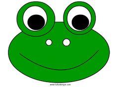 Resultado de imagen para moldes para gorras de foami de mickey mouse Cardboard Tube Crafts, Paper Crafts For Kids, Diy For Kids, Hippo Crafts, Frog Crafts, Animal Costumes For Kids, Frog Costume, Frog Art, Animal Faces