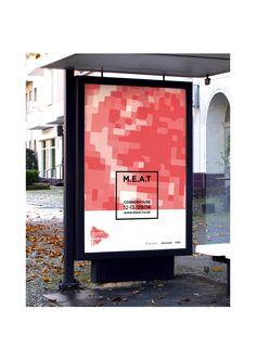 MEAT-Manchester Electronic Art Turnout - Edouard Coune's Portfolio #shillington #studentwork #poster