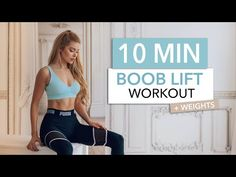 10 MIN BOOB LIFT - B(r)east mode: ON .. Chest Workout for men & women / with weights I Pamela Reif