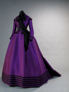 Tirelli Costumi, purple silk costume designed by Piero Tosi, made by Sartoria Tirelli in 1972 and worn by Romy Schneider in the role of Empress Elisabeth of Austria in the film Ludwig by Luchino Visconti.
